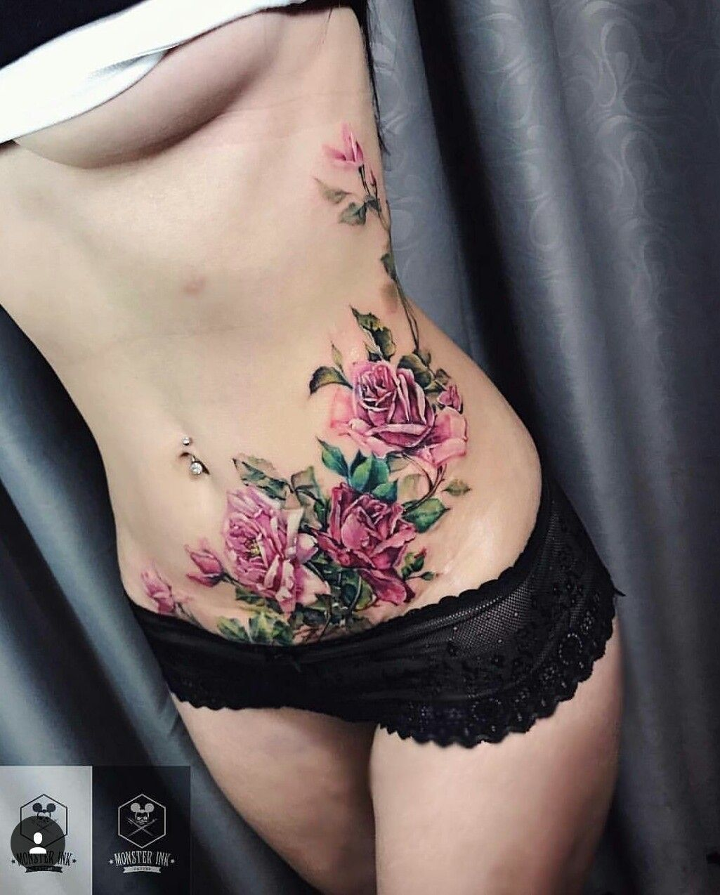 Belly Button Tattoos For Females (75)