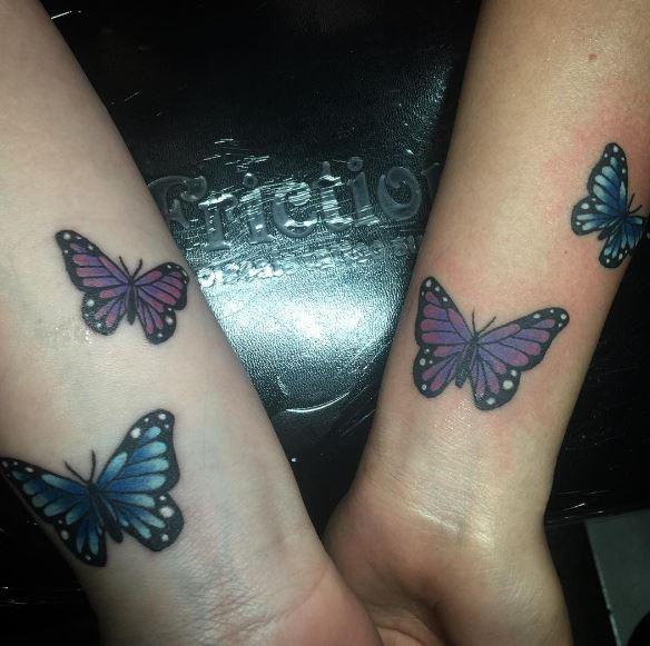 Best Friend Butterfly Tattoos