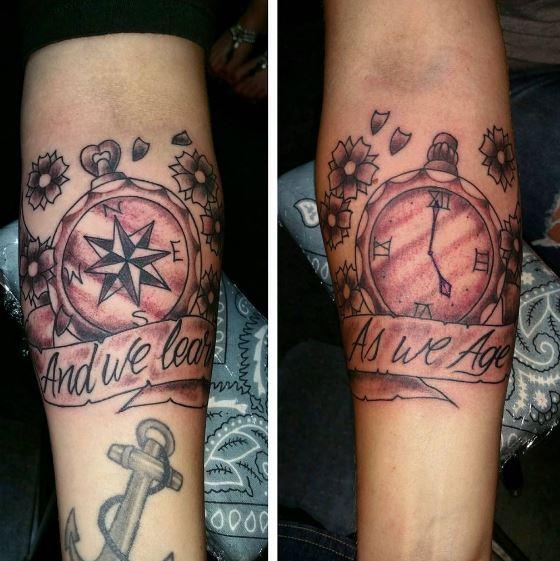 Best Friend Clock Tattoos