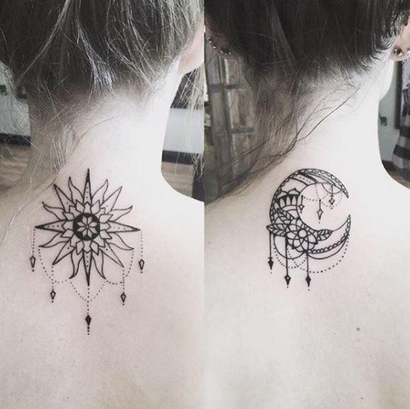 Best Friend Neck Tattoos