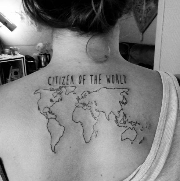 Best World Map Tattoos