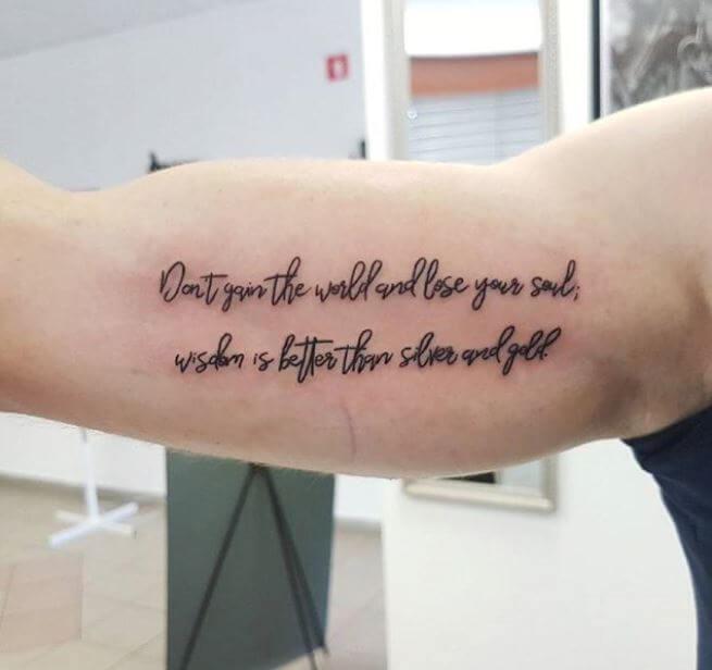 Bob Marley Quote Tattoos