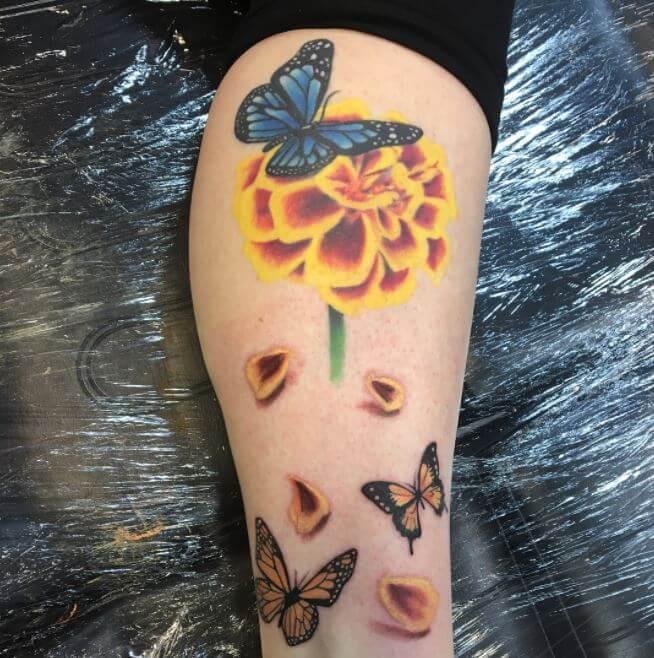 Butterfly Calf Tattoos