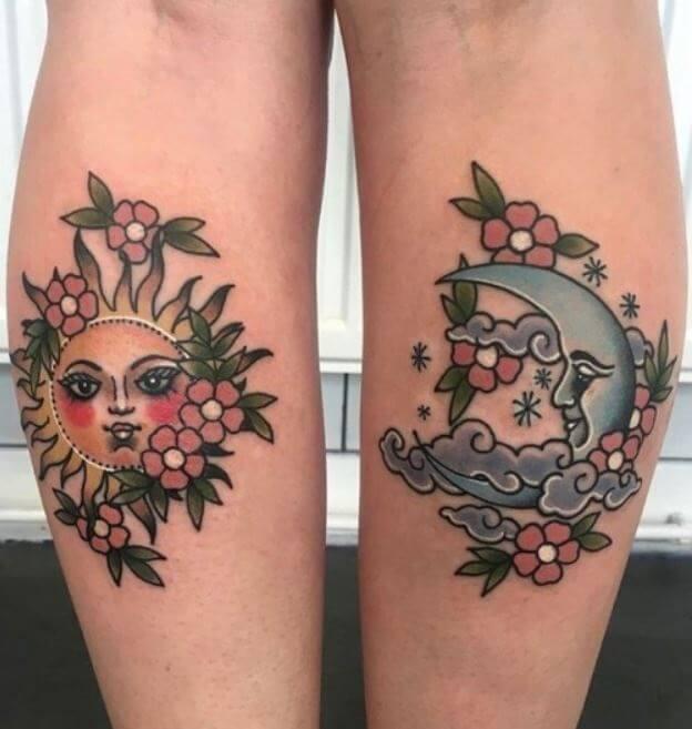Calf Tattoos Female