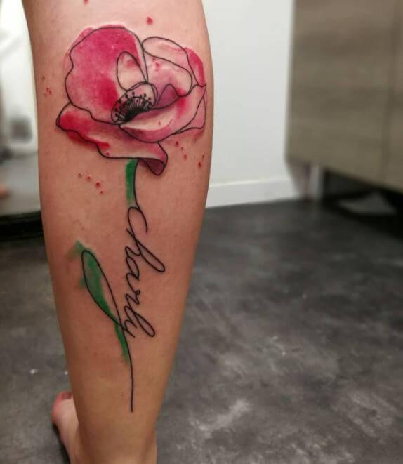 Calf Tattoos Girl