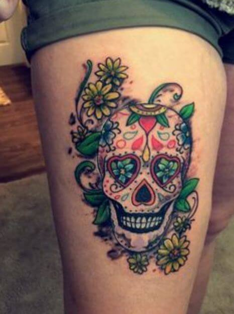 Candy Skull Tattoo