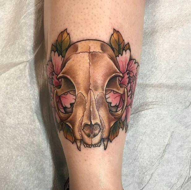 Cat Skull Tattoo (1)