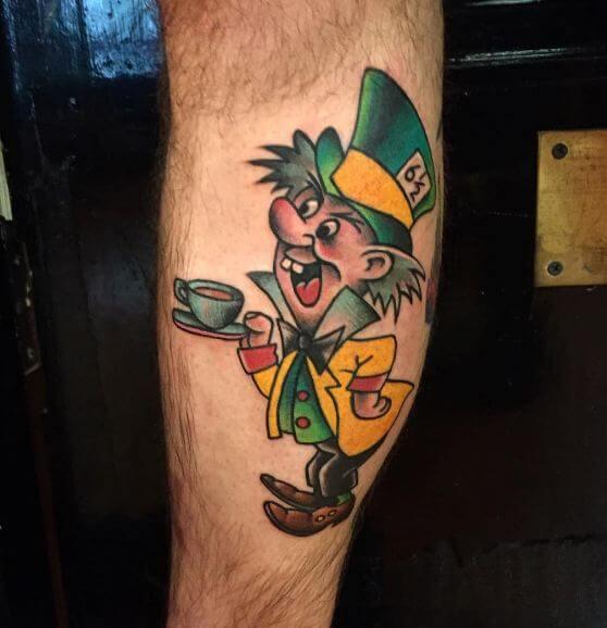 Colorful Alice In Wonderland Tattoos
