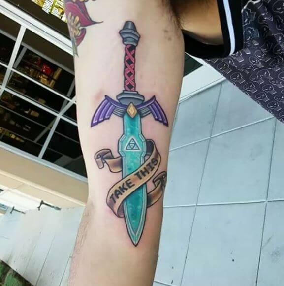 Colorful Zelda Tattoos