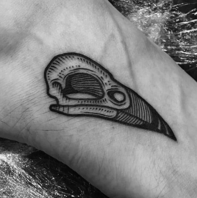 Crow Skull Tattoo