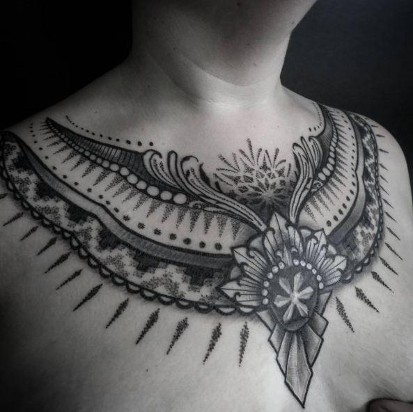 Feminine Tattoos On Chest