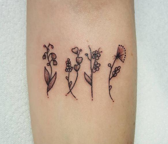 Flower Feminine Tattoos