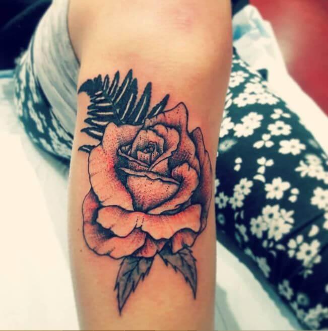 Flower Tattoos On Calf