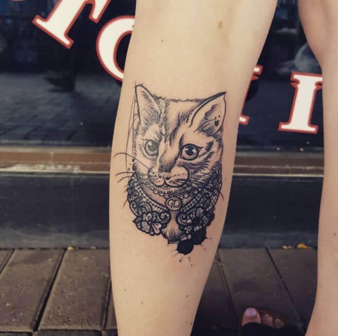Girl Calf Tattoos