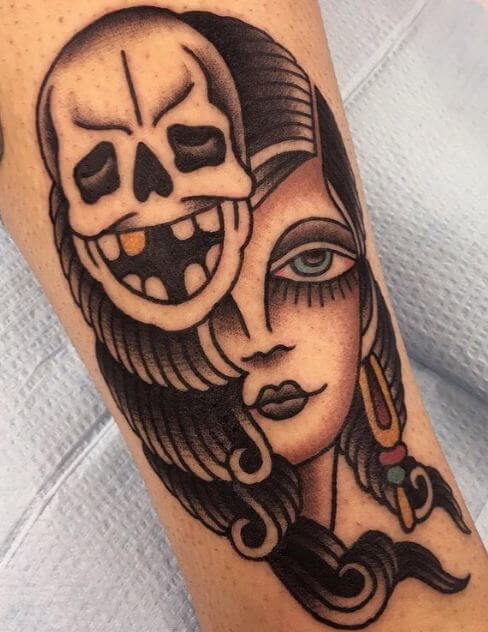 Girly Sugar Skull Tattoo