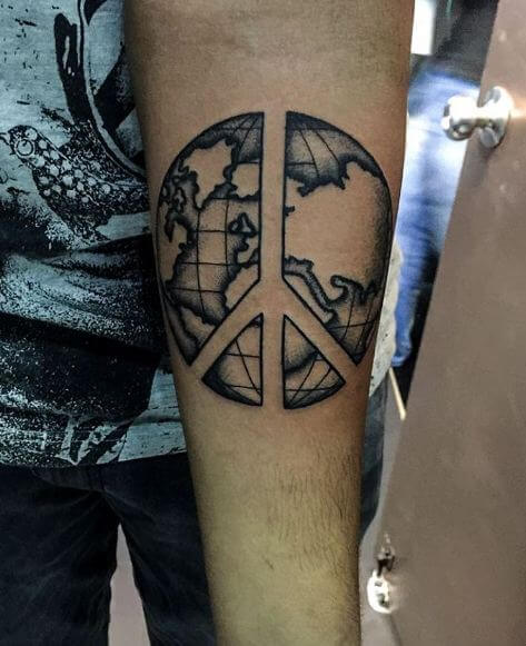Globe Tattoos For Forearm