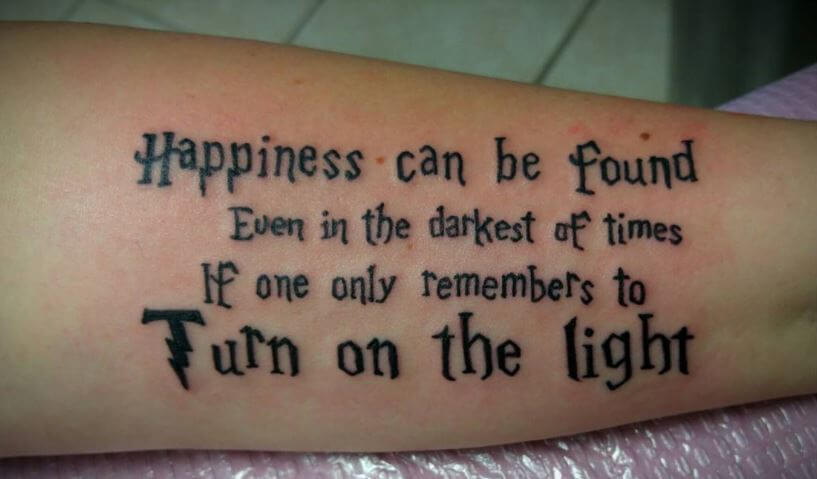 Harry Potter Quote Tattoos