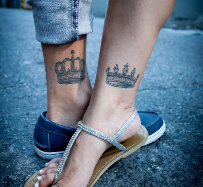 His And Hers Tattoos King And Queen