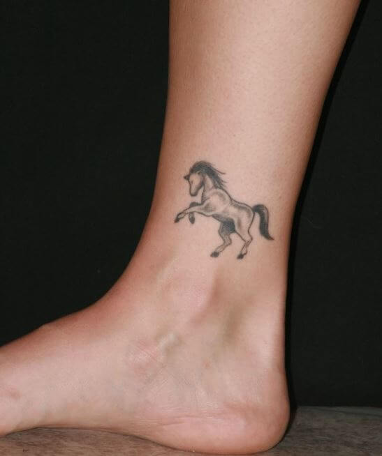Horse Tattoo Ankle