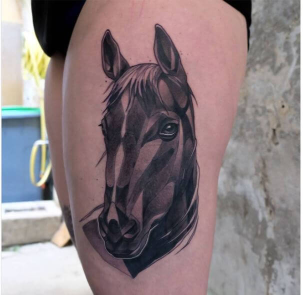 Horse Tattoo For Woman