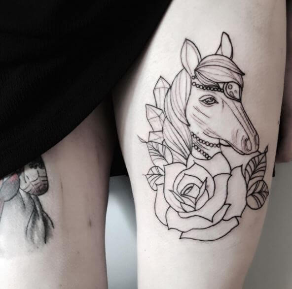 Horse Tattoo Outline