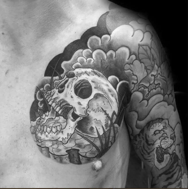 Japan Skull Tattoo