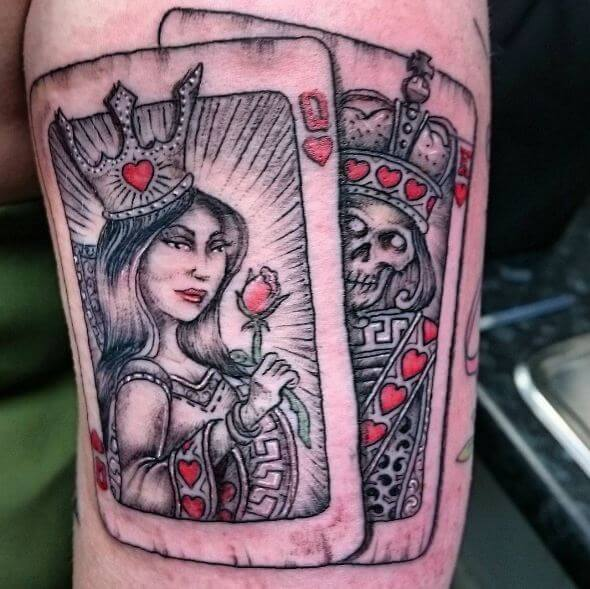 King And Queen Card Tattoos