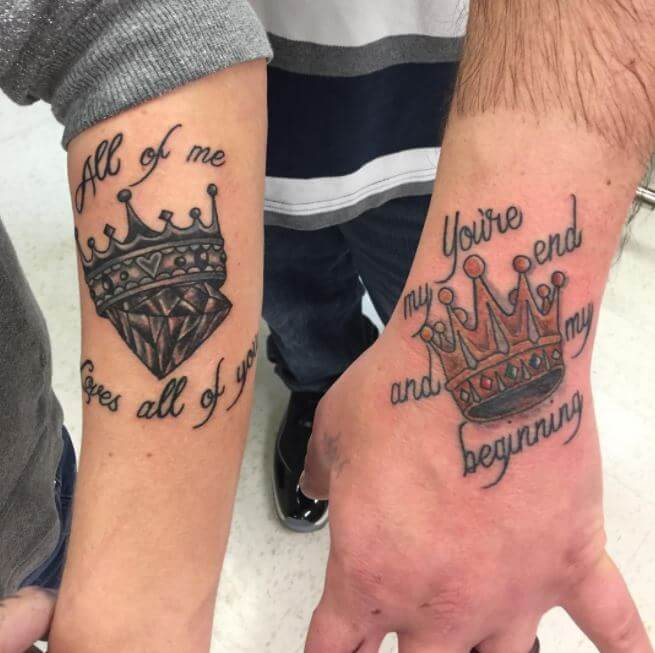 King And Queen Crowns Tattoos