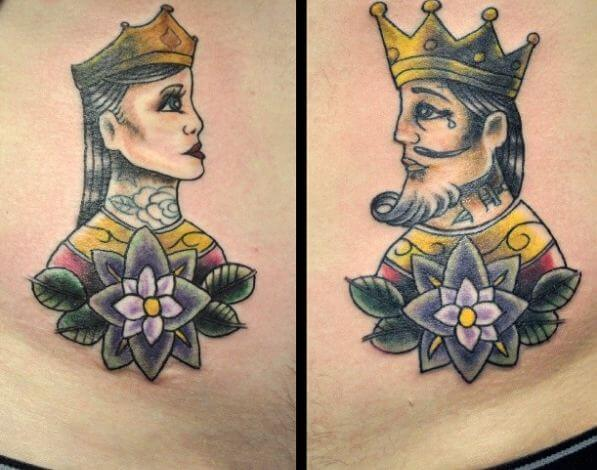 King And Queen Tattoo Images