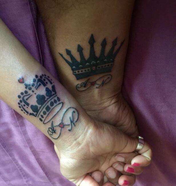 King And Queen Tattoos For Wife