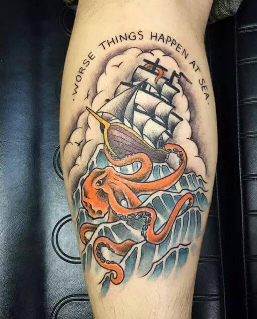 Kraken Octopus Tattoos
