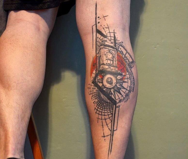 Leg Calf Tattoos