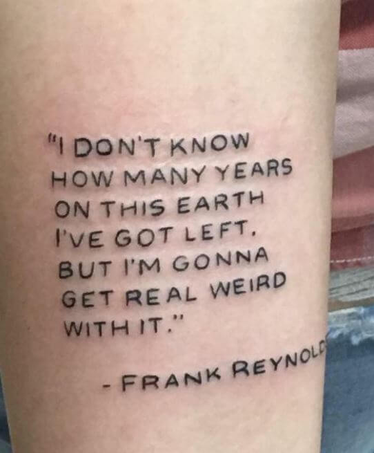 Life Quote Tattoos