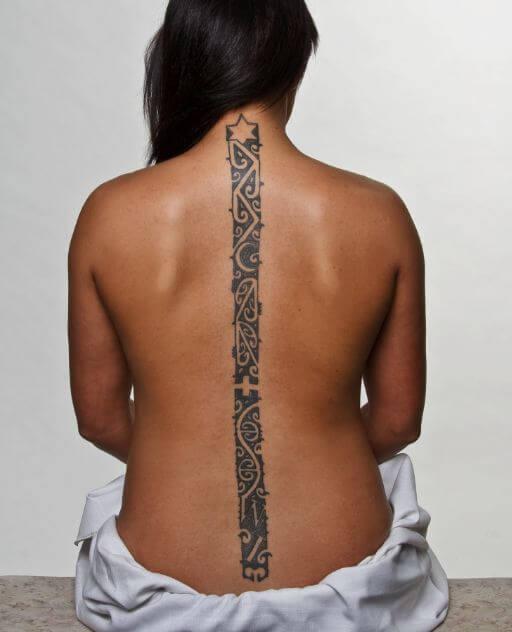 Maori Tattoos On Spine