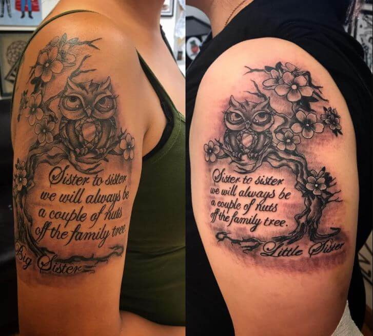 Matching Sister Quote Tattoos