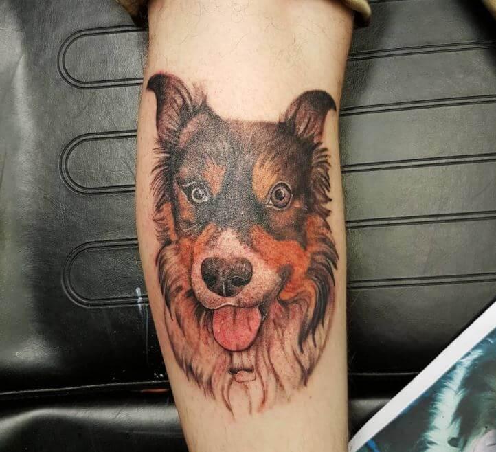 Men Calf Tattoos