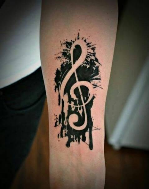 Musical Arm Tattoos
