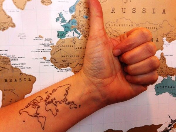 Nautical Pirate Map Tattoos (10)