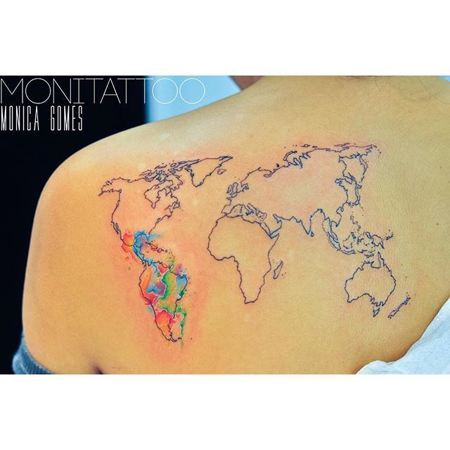 Nautical Pirate Map Tattoos (122)