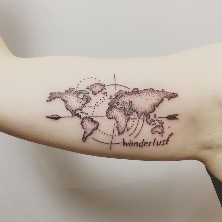 Nautical Pirate Map Tattoos (127)