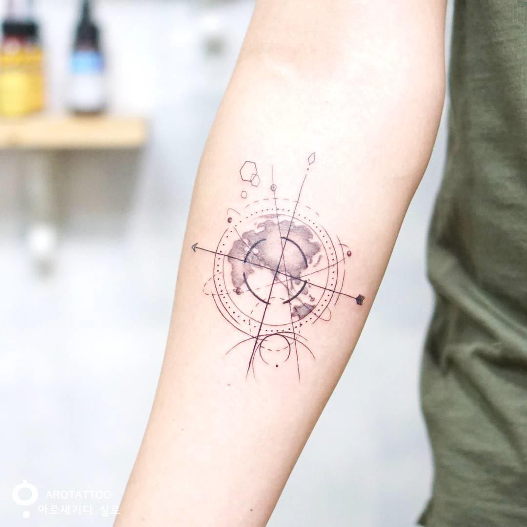 Nautical Pirate Map Tattoos (141)