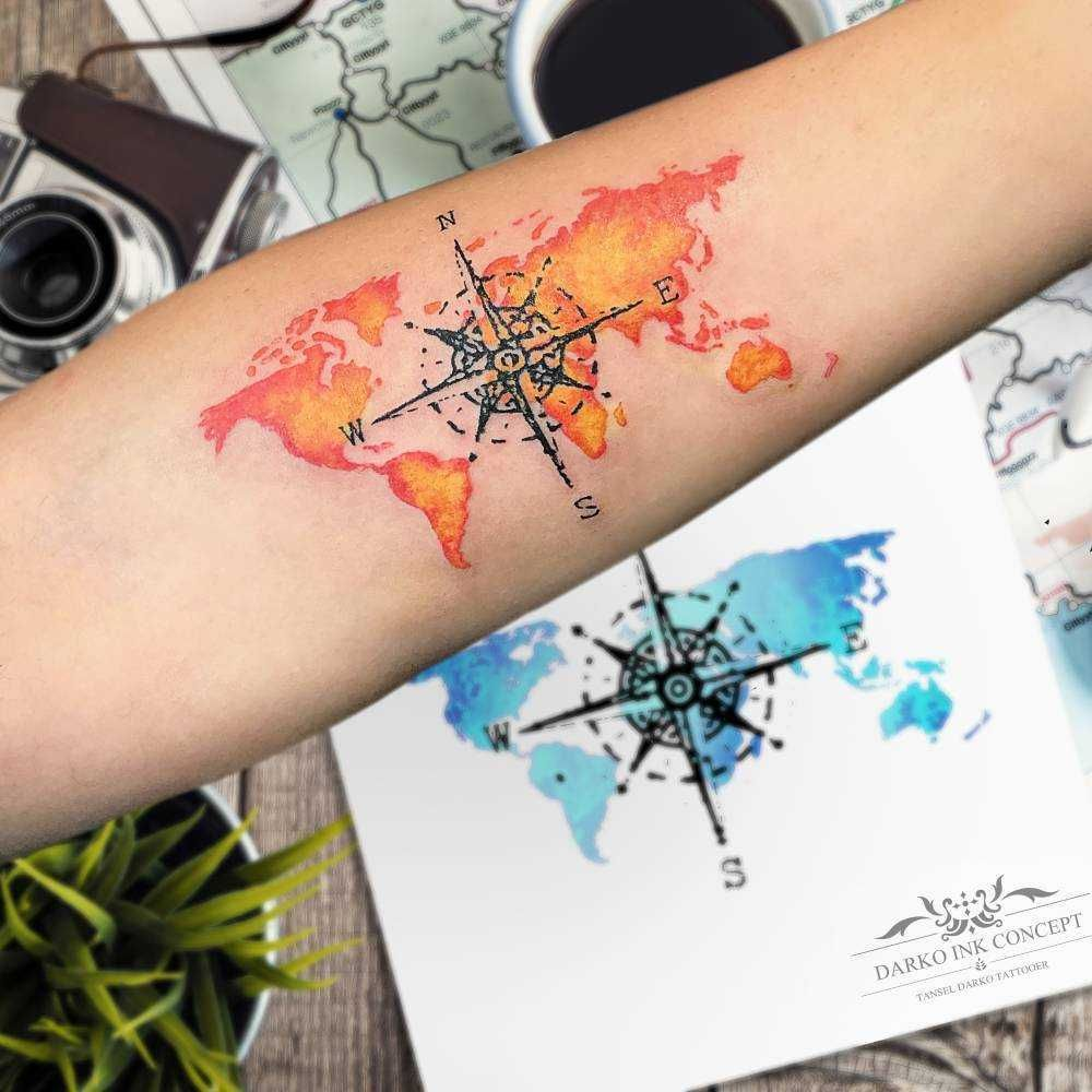 Nautical Pirate Map Tattoos (157)