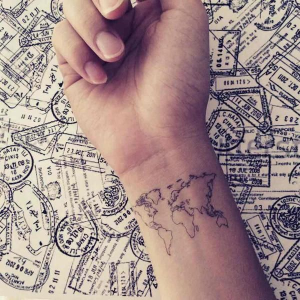 Nautical Pirate Map Tattoos (43)