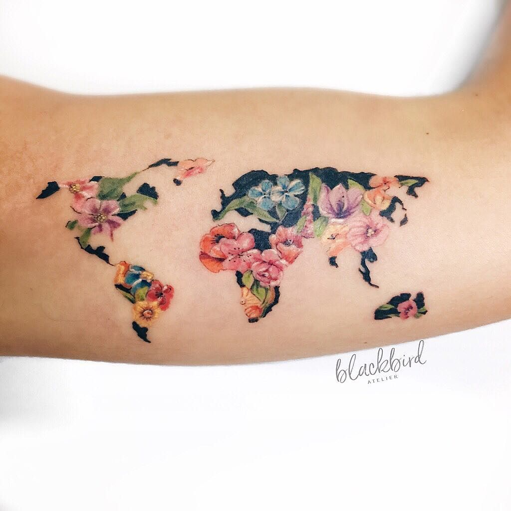 Nautical Pirate Map Tattoos (54)