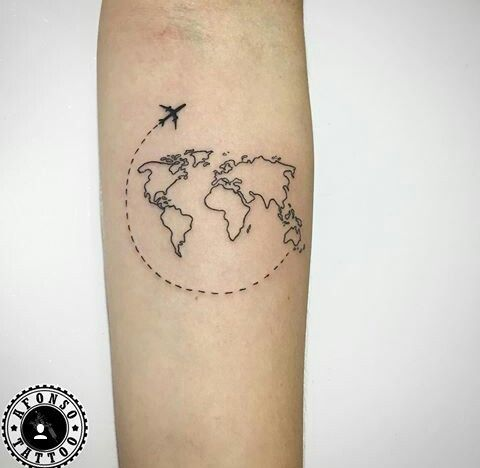 Nautical Pirate Map Tattoos (82)