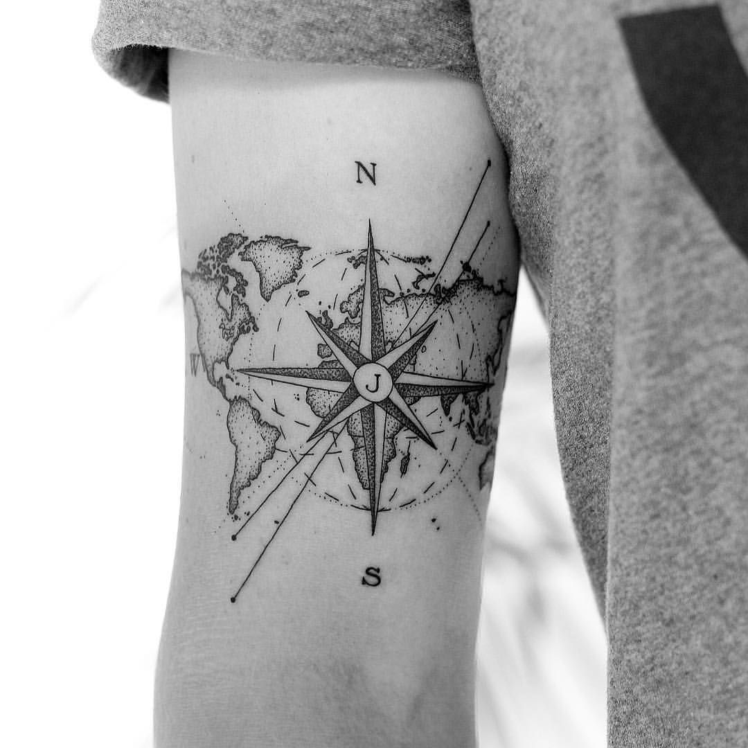 Nautical Pirate Map Tattoos (89)