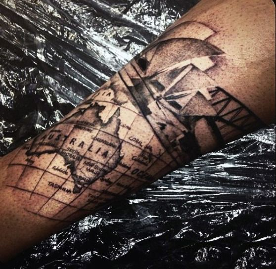 Nautical Pirate Map Tattoos (99)