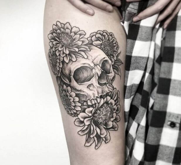 Old School Skull Tattoo