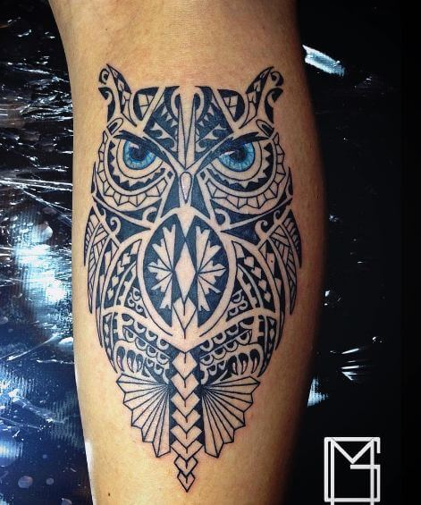 Owl Maori Tattoos