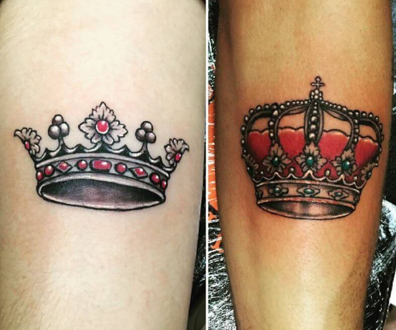 Queen And King Crown Tattoo